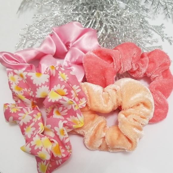 New 3/$20 Set of 4 Scrunchies